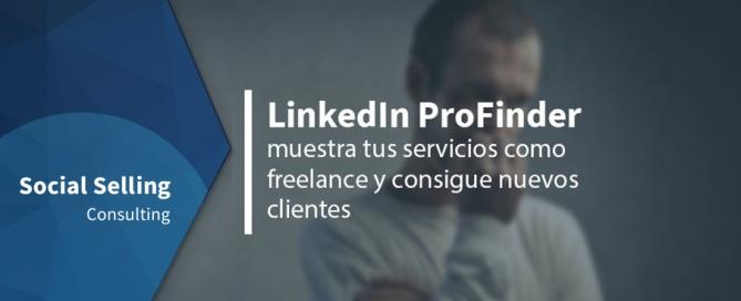 LinkedIn ProFinder, muestra tus servicios como freelance