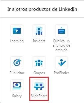 SlideShare en otros productos para publicaciones LinkedIn