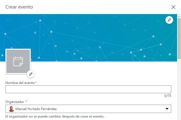 Cómo crear un evento en LinkedIn - Organizador particular