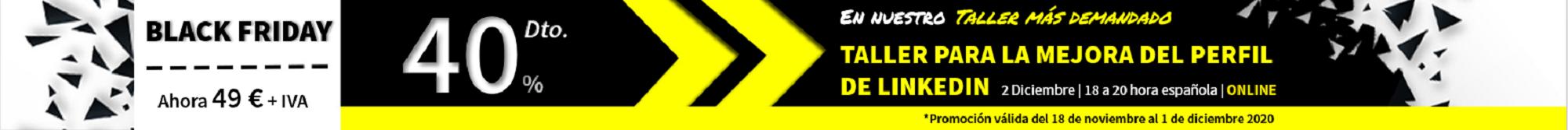 promocion del taller para la mejra del perfil de linkedin