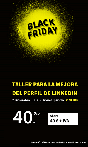 Black Friday Taller de perfil de LinkedIn