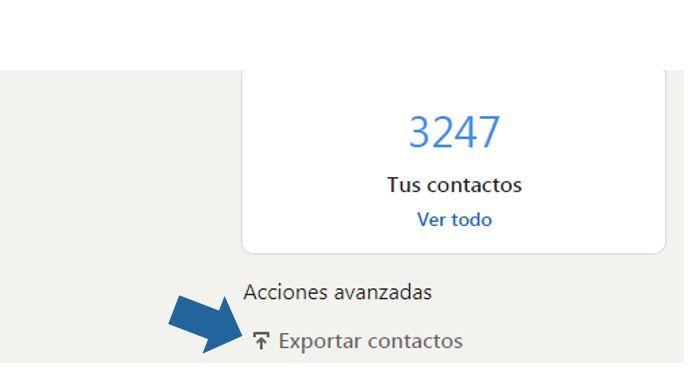 exportar los contactos de linkedin
